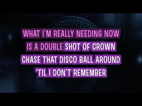 Bartender Karaoke Version  Lady Antebellum  with Lyrics
