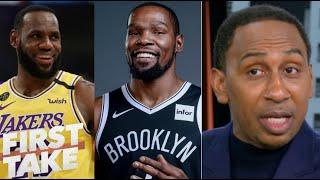 FIRST TAKE   Stephen A. send a WARN! LeBron Lakers won't win title next season when KD Nets comeback