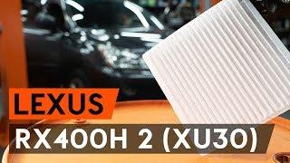 Монтаж на Филтър въздух за вътрешно пространство на LEXUS RX: видео наръчници