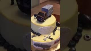 Торт с днем рождения GAZELLE CUSTOM V8