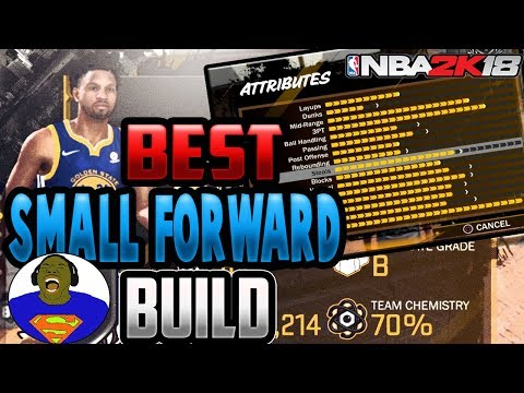 NBA 2K18 BEST SMALL FORWARD BUILD TWO-WAY SHARPSHOOTER - FOR PLAYGROUND, PARK AND PRO-AM