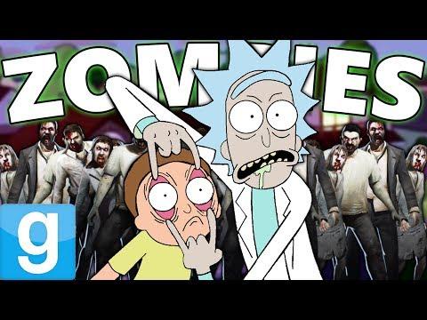 RICK AND MORTY vs ZOMBIES?! | Gmod Sandbox Fun (Adult Swim Mods)