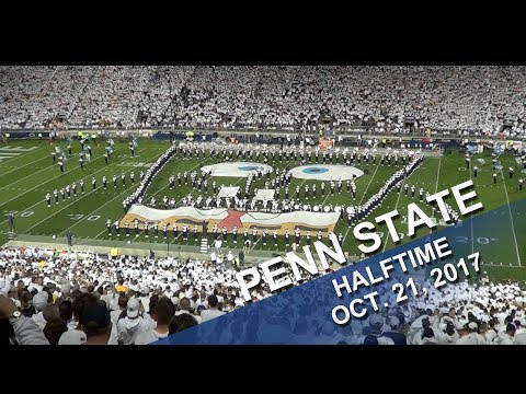 Penn State Blue Band Halftime Show  Oct  21, 2017