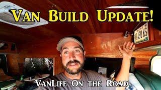 Van Build Progress - VanLife On the Road