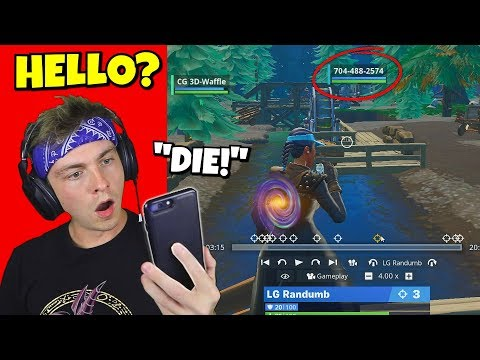 i called this player's phone number in fortnite after killing him... (HE ANSWERED!)