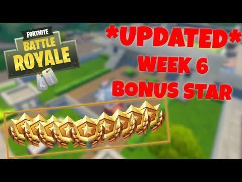 *UPDATED* WEEK 6 BONUS STAR LOCATION - SEASON 4 (Fortnite Battle Royale)