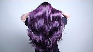 Яркое окрашивание волос в фиолетовый для коллекции WELLA