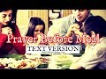 Prayer Before Meal (Text Version - No Sound)