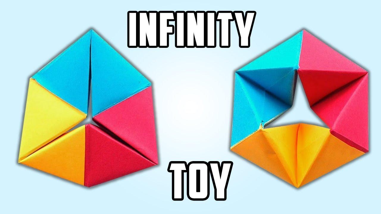 origami rotating tetrahedron toy instructions full hd