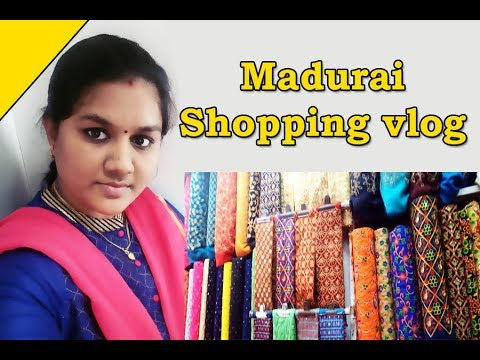 Madurai shopping Vlog | Blouse material shopping