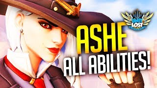 Overwatch Ashe First Look! NEW HERO Gameplay!! (All Abilities)