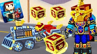 Pixel Gun 3D - Gold Chests and Violet Premium Chests Challenge Skill Guy in the Battle Royale