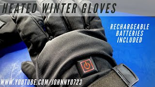 Tonha Heated Gloves - These are thick but warm and comfy! Rechargeable batteries included