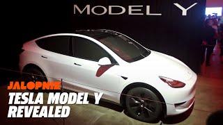 Elon Musk Reveals Tesla Model Y