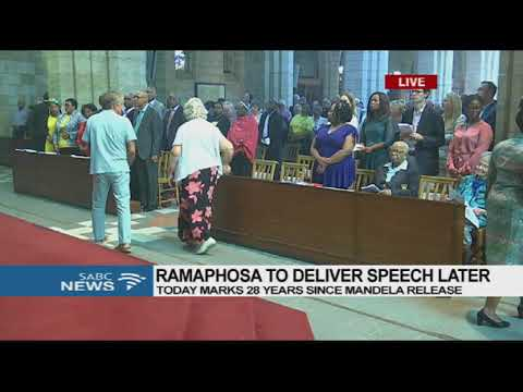 Ramaphosa at St George's Cathedral, Cape Town