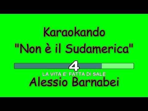 Karaoke Italiano - Non è il Sudamerica - Alessio Barnabei ( Testo )