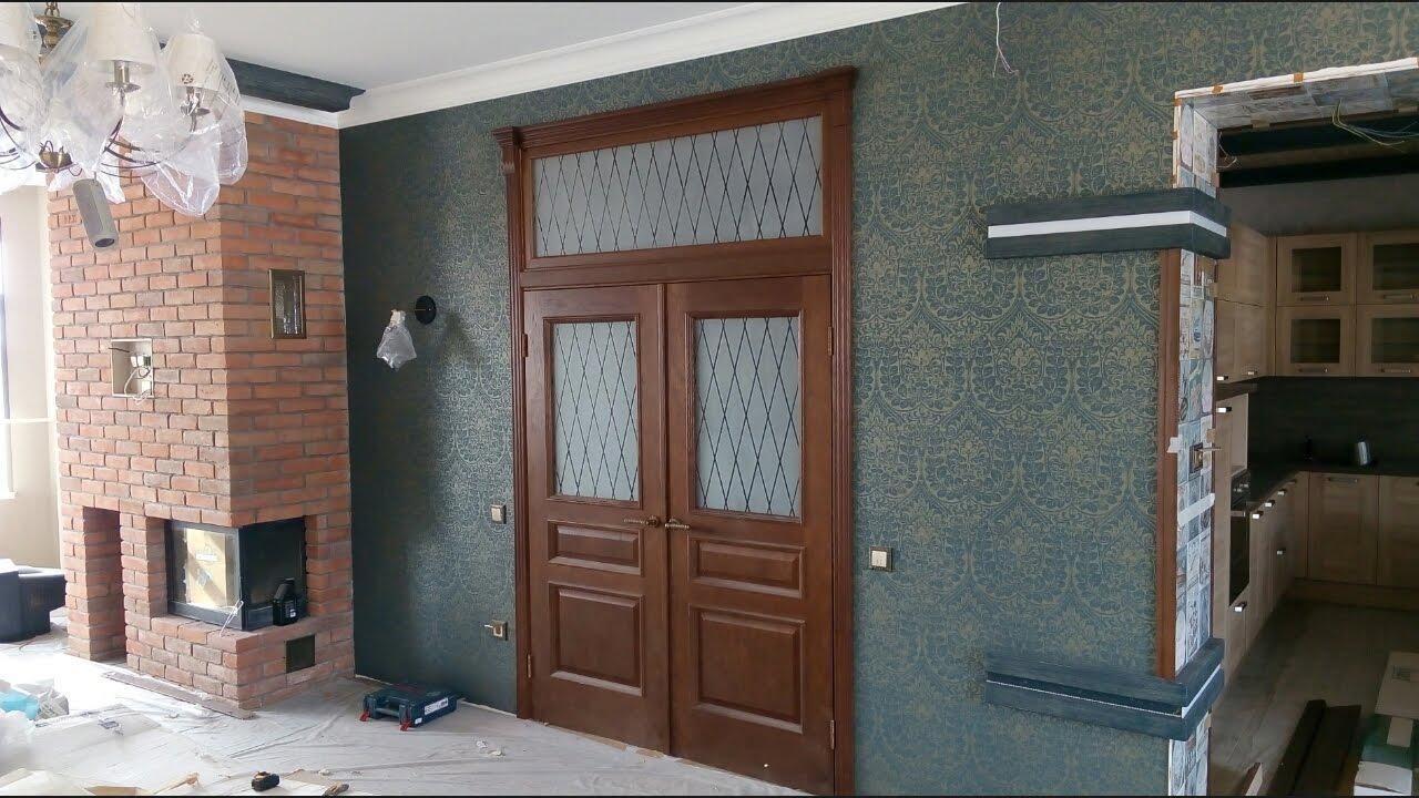 Двойная дверь Dariano с фрамугой и капителями 2,75м
