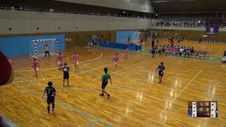 7日 ハンドボール女子 福島市国体記念体育館 Cコート 富岡東vs明光学園 3回戦 2