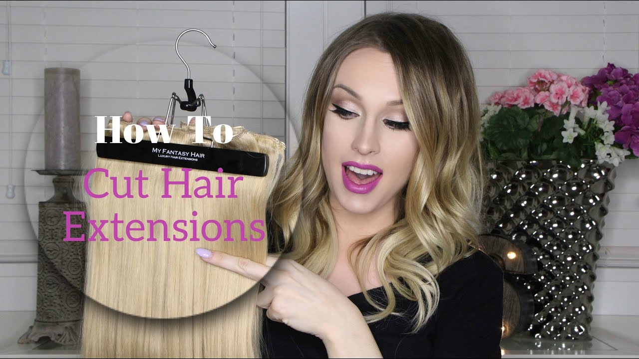 How To Cut Hair Extensions At Home