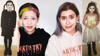 RECREATING CHILDHOOD HALLOWEEN LOOKS WITH MY SISTER
