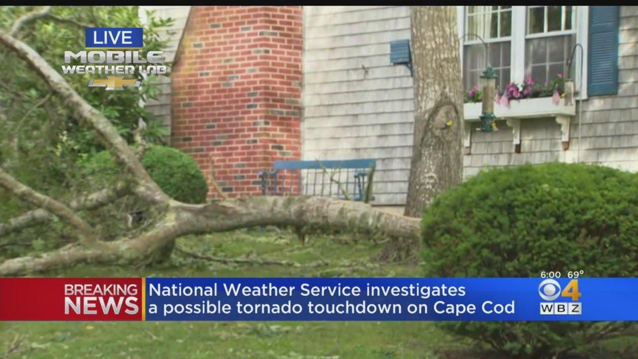 National Weather Service Investigates Possible Tornado On Cape Cod