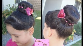Wrapped Bun!!  | Dance Hairstyles | Updo Hairstyles | Sport Hairstyles