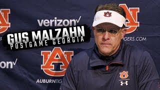 Hear what Gus Malzahn had to say following Auburn's 27-10 loss at Georgia