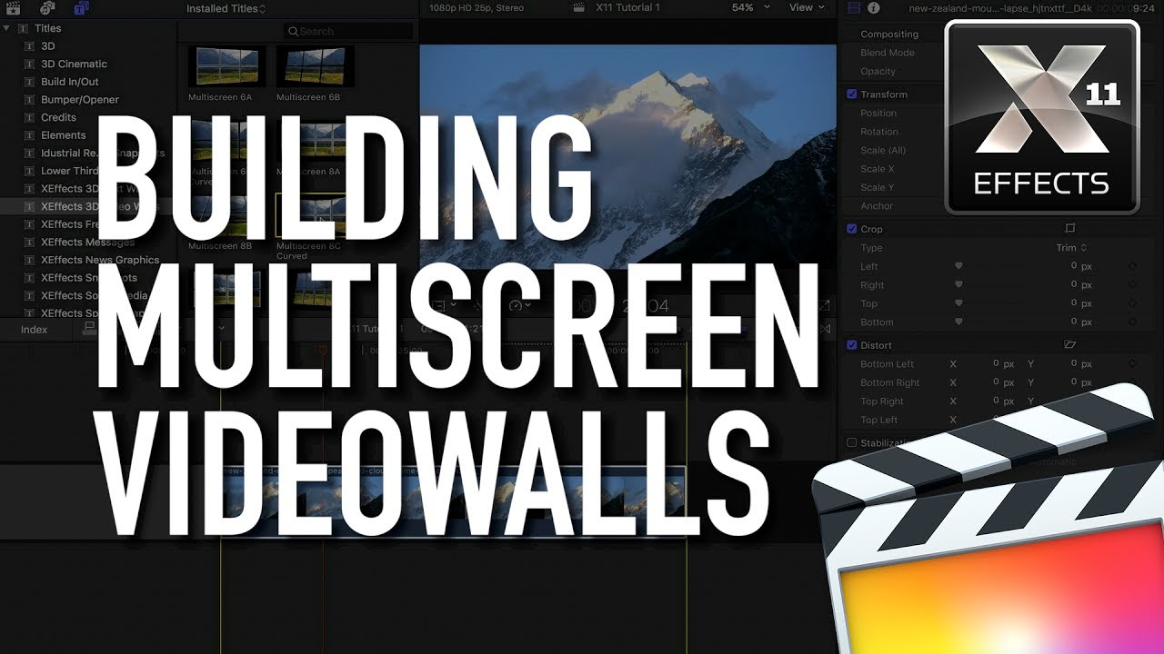 3D Video Walls for FCP X