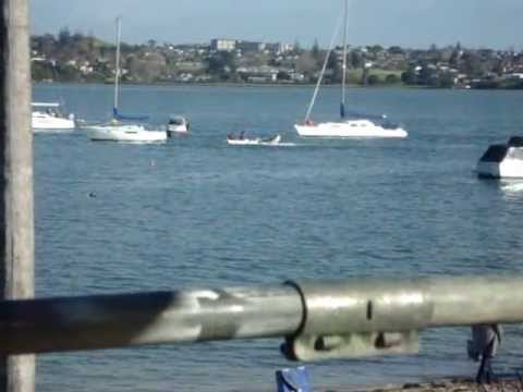 Bucklands Beach dinghy out of control