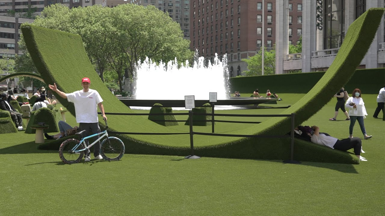 NYC Built A Skatepark Out Of Grass