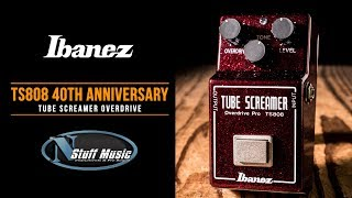 Ibanez TS808 40th Anniversary Tube Screamer - Ruby Red Sparkle