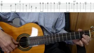 USA National Anthem -The Star-Spangled Banner - Easy Guitar melody tutorial + TAB Guitar lesson