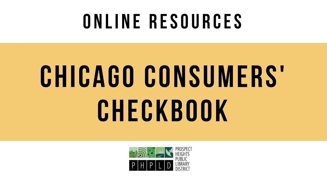 Online Resources: Chicago Consumers' Checkbook