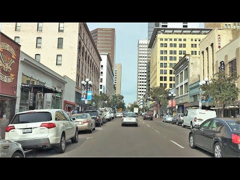 Driving Downtown - San Diego City 4K - California USA