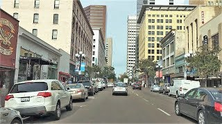 Driving Downtown - San Diego's City Center - San Diego California USA