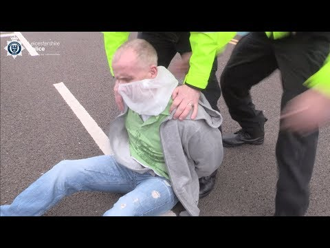 Spitting at police officers will not be tolerated