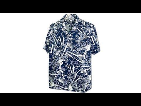 Гавайская рубашка Pacific Legend 410-3904 Navy
