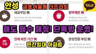 안성 금호어울림 더 프라임 민감임대 아파트 전매 매도 …