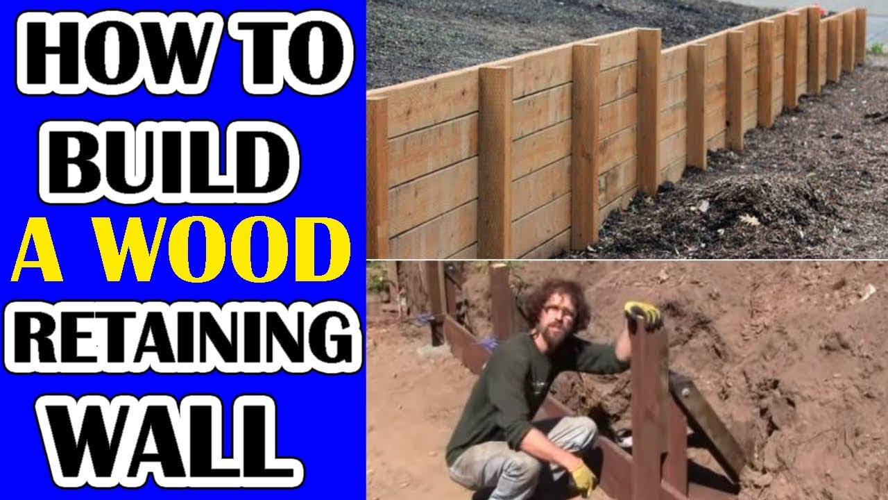 How to Build a Wood Retaining Wall that will not Lean Part 20. Wood Deadman  Design.