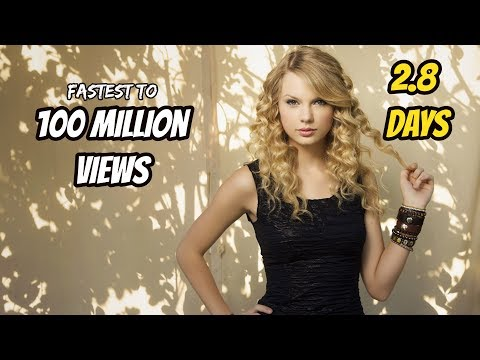 Top 10 Fastest Songs To Reach 100 Million Views In YouTube History!!