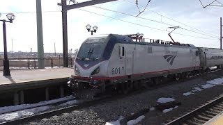 New Amtrak ACS-64 electric locomotives 601 and 600 in revenue service!