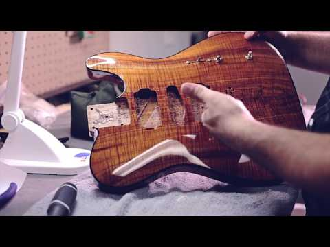 Warmoth Fender Telecaster Custom Koa Guitar Build - Taylor Swift / Grant Mickelson