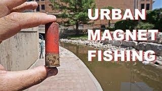 FOUND LOADED SHOTGUN SHELL URBAN MAGNET FISHING