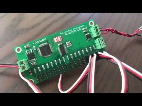 Tarjeta controladora DMX 16ch para servo motores 5v