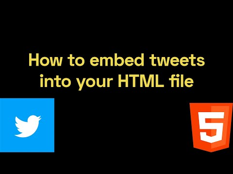 How To Embed Tweets Into Your HTML File