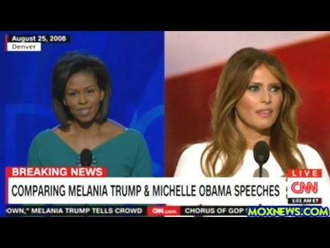 CNN Accuses Melania Trump Of Plagiarizing Michelle Obama's 2