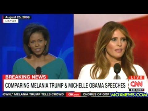CNN Accuses Melania Trump Of Plagiarizing Michelle Obama