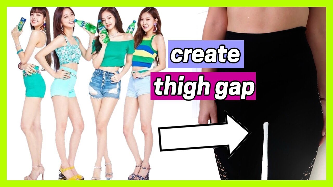 How To Slim Down Your Thighs Like A Kpop Idol Thigh Gap Workout Youtube