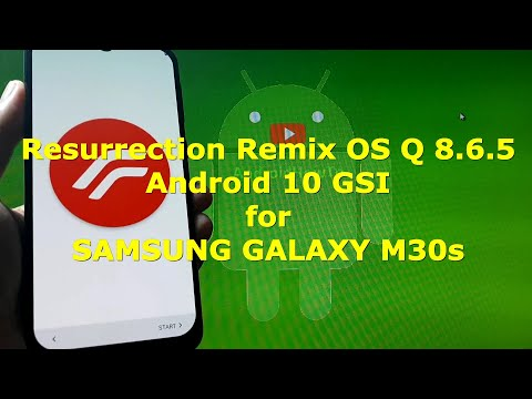 Resurrection Remix OS Q 8.6.5 Android 10 for Samsung Galaxy M30s