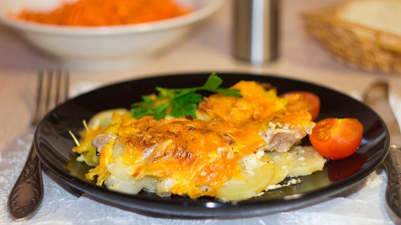 мясо по французски с запеченным картофелем фото моей любви